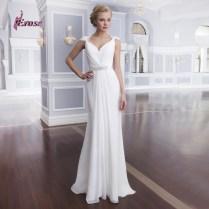 Aliexpress Com Buy Simple But Elegant Cap Sleeve Chiffon Bridal