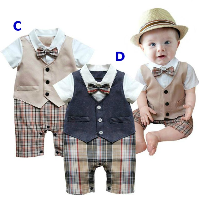 Baby Boy Suit, Wedding Christening Pageant Formal Outfit Bodysuit