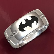 Batman Wedding Ring By Valeriafinejewelry On Etsy