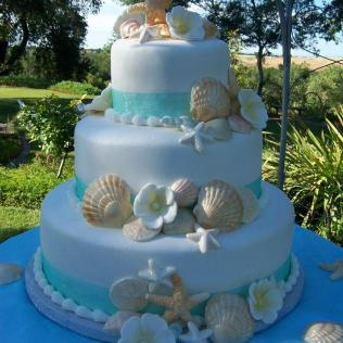 Beach Theme Wedding Cake Awesome Beach Themed Wedding Cake