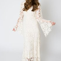 Bell Sleeve Lace Maxi Dress