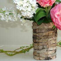 Birch Bark Vases Planter Wedding Table Decor Flower Pot Rustic