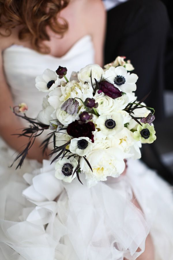 Black white and silver wedding bouquets mightylinksfo