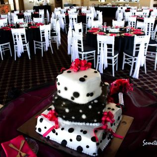 Black, White And Red Wedding