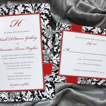 Black White And Red Wedding Invitations