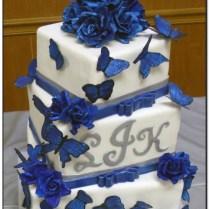 Blue And Black Wedding Cakes On Wedding Cakes With 34 Black White