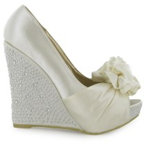 Bridal Shoes Wedges To Support Comfort Beauteous Wedding Shoes