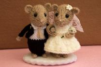 Bride And Groom Dormouse, Wedding Mice, Wedding Cake Topper