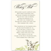 Budget Wedding Invitation Wishing Well Card Delicate Autumn Leaves