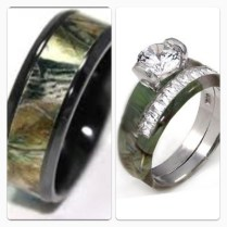 Camo Wedding Rings For Her