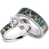 Camo Wedding Rings The Big Amazing Pink Camo Wedding Rings
