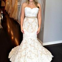 Champagne Wedding Dress With Simple Ivory And Champagne Wedding