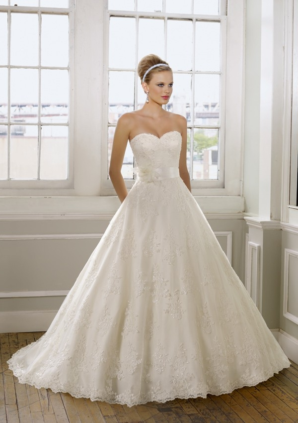 Chic Lace Princess Wedding Dresses For Classical Bridal Look Sang