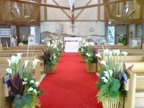 Church Wedding Decorations Ideas Pews — Room Decoration Ideas