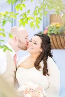 Coral And Teal Cape May Beach Wedding