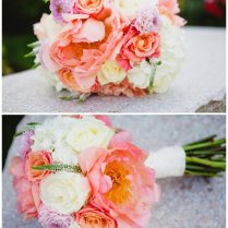 Coral Colored Flowers Wedding On Wedding Flowers With Inspired All