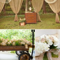 Country Rustic Wedding Decor Indoor And Outdoor Country Wedding