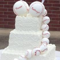 Couple Celebrates Their Wedding With Baseball Theme