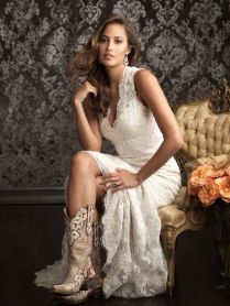 Cowboy Boots For Wedding Dress