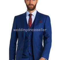 Custom 2015 Two Button Royal Blue Wedding Tuxedos Notch Lapel