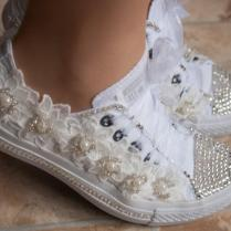 Custom Wedding Tennis Shoes