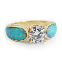 Cute Opal Engagement Rings