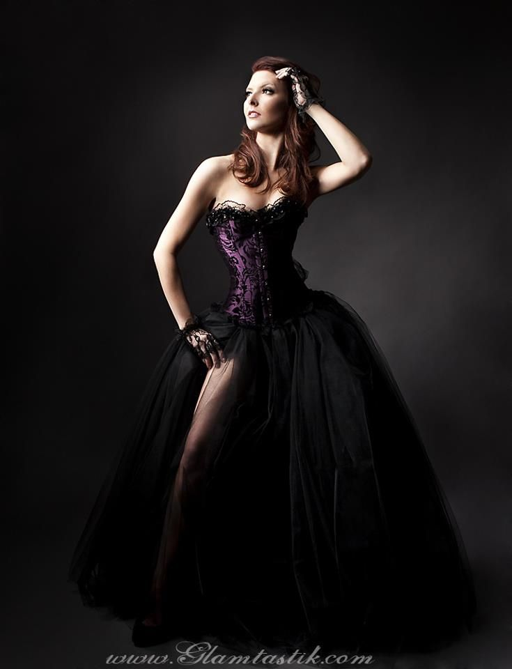 Dark Purple Wedding Dress