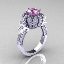 Diamond Wedding Ring Pink