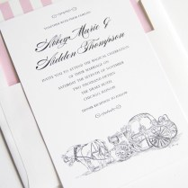Disney Cinderella's Carriage Fairytale Wedding Invitations