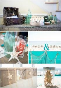 Diy Coral & Turquoise Beach Wedding