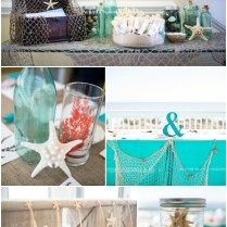 Diy Coral & Turquoise Beach Wedding