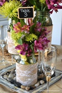 Diy Mason Jar Wedding Centerpieces