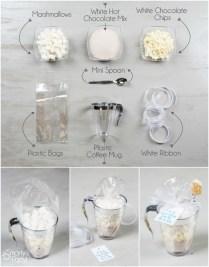 Diy Wedding Favors White Hot Chocolate Kits