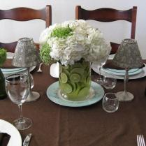 Diy Wedding Ideas} Hydrangea & Lime Centerpiece