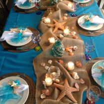 Easy Arrangement Centerpieces Beach Wedding