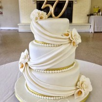 Elegant 50th Wedding Anniversary Cakes – Trending Styles Today