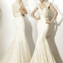 Elegant High Neck Lace Wedding Dress Us$260 99 Dresskindom