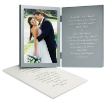 Engraved Wedding Invitation Photo Frame