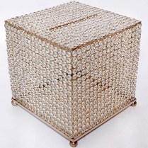 Envelope Box, Crystal Beaded