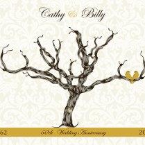Estel's Blog Golden 50th Wedding Anniversary Gift Guest Book