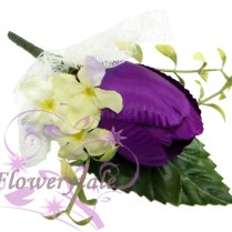 Fc018 Tulip Buttonhole Wrist Corsage [fc018 Purple]
