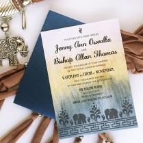 Free Diy Modern Indian Wedding Invitation