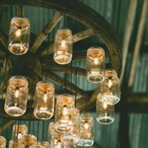 Gallery Enormous Mason Jar Chandelier For Rustic Wedding Decor