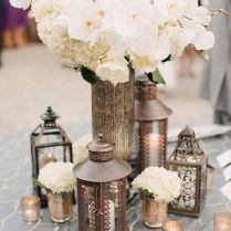 Gallery Little Lanterns And Tealight Candles Wedding Table Decor