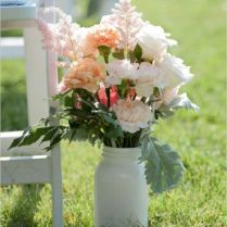 Gallery Pink Patterned Garden Wedding Aisle Decor
