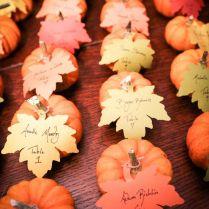 Gallery Pumpkin Wedding Place Cards