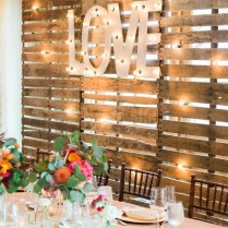Gallery Rustic Love Wood Pallets Backdrop Wedding Party Table
