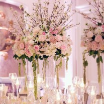 Gallery White And Pink Flowers Wedding Centerpiece Idea