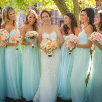 "Garden Party"" Wedding With Mint Green And Pale Pink Hues At"
