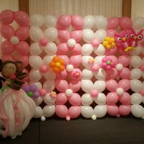 Glamour Wedding Room Interior Design With Fantastic Baloon Wall